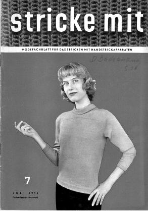 Stricke Mit 7-1956 Machine Knitting Magazine