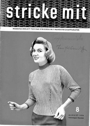Stricke Mit 8-1956 Machine Knitting Magazine