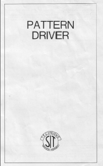 Superba Pattern Driver Instruction Manual