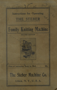 Steber Knitting Machine Instruction Book