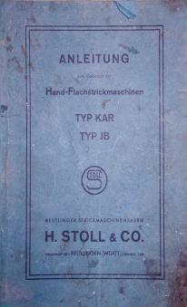 H. Stoll Hand FlachsStrickmaschinen Type KAR and JB