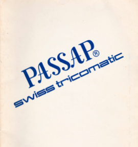 Passap Swiss Tricomatic Instruction Manual