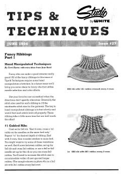 Studio Tips and Techniques Issue 27 Fancy Ribs