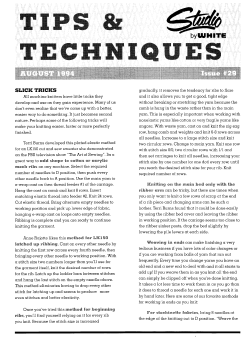Studio Tips and Techniques Issue 29 Slick Tricks
