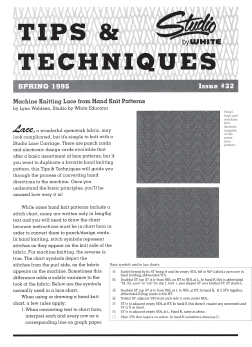 Studio Tips and Techniques Issue 32 Double Jacquard
