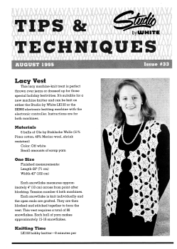 Studio Tips and Techniques Issue 33 Lacy Vest