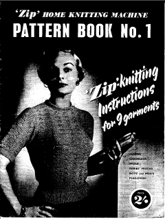 'Zip' Pattern Book No 1for Knitting Machine