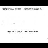 CH1000 Setup Instruction Book