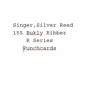 Silver Reed-Singer R Standard Punchcards For SR155 Ribber