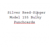 Silver Reed-Singer Standard Punchcards For Model 155
