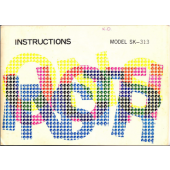 Singer SK313 Knitting Machine Instruction Manual