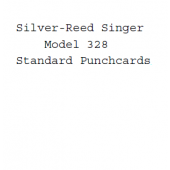 Silver Reed-Singer Standard Punchcards For Model 328