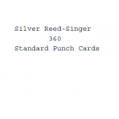 Silver Reed-Singer Standard Punchcards For Model 360