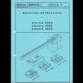 Passap 4000, 4080, 4600 EL4 Motor Mounting Instructions