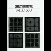 Knitmaster 550 Operation Knitting Machine Instruction Manual