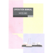 Knitmaster 580 Operation Knitting Machine Instruction Manual