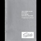 Studio 580 Electronic Knitting Machine Supplimentary Manual