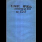 Toyota K747 Service Manual