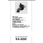 Brother KA8200 Intarsia Carriage User Guide