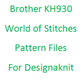 Brother KH930 World of Stitches Extra Files for Designaknit
