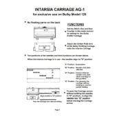 AG-1 Intarsia Carriage For Bulky Model 120 User Manual
