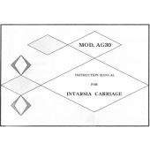 AG30 Intarsia Carriage User Manual