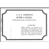 ARS Amoretto Super8 Excell Supplementary Instructions