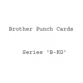 Brother B-KG Series Punchcards