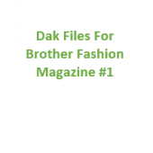 Brother Fashion Magazine 01 Files for Designaknit