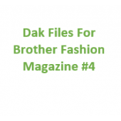 Brother Fashion Magazine 04 Files for Designaknit