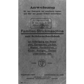 J. D. Clad Familien-Strickmaschine Instruction Manual