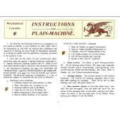 Creelman Mechanical Lessons and Parts List