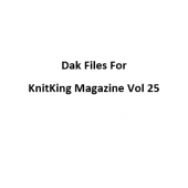 KnitKing Vol 25 Files for Designaknit
