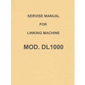 Singer-Knitking DL1000 Linker Service Manual
