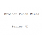 Brother D Series Punchcards