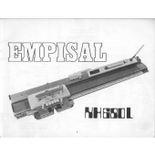 Empisal KH680L Knitting Machine Instruction Manual