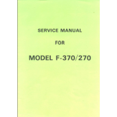 F270-370 Knitting Machine Service Manual