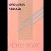 F370/270 Operation Manual