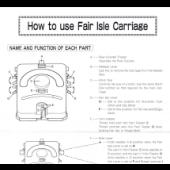 Silver Reed LK-150 Fair Isle Carriage Manual