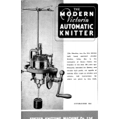 Foster Knitting Machine Co Modern Victoria Instruction Manual