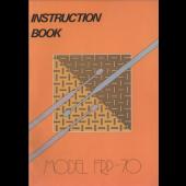 Singer FRP70 Ribber Machine Instruction Manual