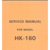 HK160 and MK70 Knitting Machine Service Manual