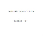 Brother J Series Punchcards
