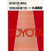 Toyota K450 Ribber User Manual