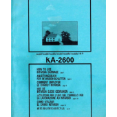 Brother KA2600 Intarsia Carriage User Guide