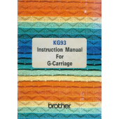 Brother KG93 Garter Carriage User Guide