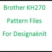 Brother KH270 Files for Designaknit