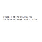 Brother KH800  Punchcards