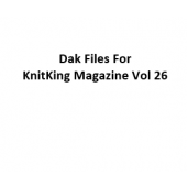 KnitKing Vol 26 Files for Designaknit
