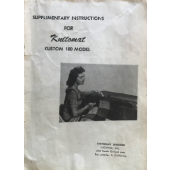 Knitomat Custom 180 Supplimental Instructions